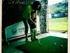 陪爸爸练高尔夫
